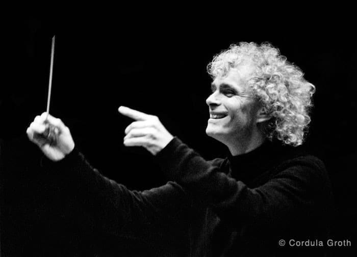 Simon Rattle war von 2002 bis 2018 Chefdirigent der Berliner Philharmoniker